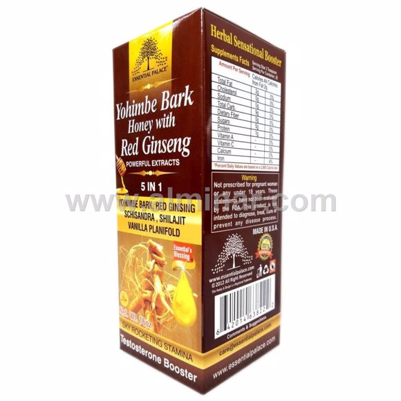 Picture of Yohimbi Bark Honey with Red Ginseng. Powerful Extracts (5 in1)
