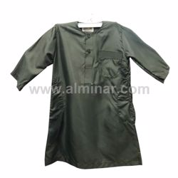 Picture of Boy Thobe - 26 Size- Olive Color By Al-Falah