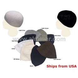 Picture of 6 Pieces - Turkish Knitted Stretchable Muslim Prayer Cap